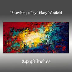 SALE - See Shop Announcement - Acrylic Painting, Large Original Abstract Painting: Title, Searching 2 - 24x48 Inches, Modern Art