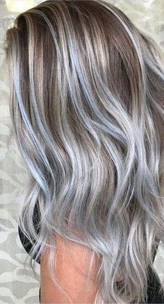hair highlights ombre 36 Gray Silver Ombre Hair Color Ideas for Attention-Grabbing Gals - Love Casual . 36 Gray Silver Ombre Hair Color Ideas for Attention-Grabbing Gals - Love Casual Style Silver Hair Highlights, Silver Blonde Hair, Brown Ombre Hair, Black And Blonde, Ombre Hair Color, New Hair Colors, Cool Hair Color, Dark Hair, Ash Ombre
