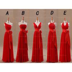 long bridesmaid dress, red bridesmaid dress, mismatched bridesmaid dress…                                                                                                                                                                                 More