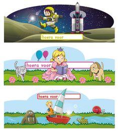 12 verschillende kaarten voor feestmutsen