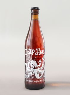 Awesome beer bottle design. Deep Love — The Dieline