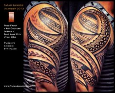 fred frost tattoo designs | Fred Frost Salt Lake City Utah USA Polynesian Tattoo Awards