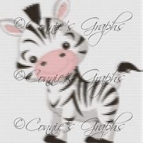 IMAGINE THIS AS A BLANKET!!! Baby Zebra Graph. Would make a beautiful wedding gift. Now you can purchase this beautiful Full Color Graph/Chart! Crochet a blanket for that special person in your life today!  $4.00  *You will notice the the photo is blurred. I do that for watermarking purposes. The Char...