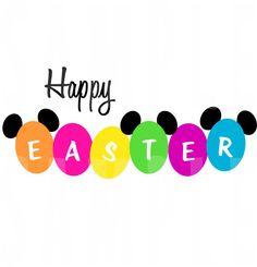 PRINTABLE Disney World Happy Easter Iron-On or by TiffanyandGirls