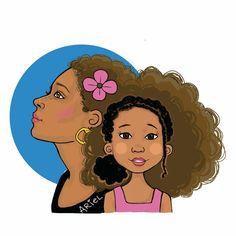 Natural Hair Art by Keturah Ariel Black Women Art, Black Art, Black Kids, African American Art, African Art, African Princess, Natural Hair Art, Afro Art, Dope Art