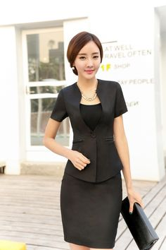 Cheap jackets toddlers, Buy Quality jacket casual directly from China skirt suit Suppliers: Fashion Women Career Slim Suits (Coat+Skirt) Elegant,Formal Style for Office&nbs Slim Suit, Suit Jackets For Women, Classy Chic, Korean Beauty, Business Women, Peplum Dress, Sexy Women, Cheap Jackets, Suits