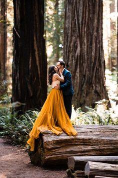 A golden elopement among the Redwoods | 100 Layer Cake | Bloglovin'