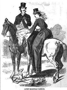 Ladies Of The 1860s: Peterson's November 1861 (click through for description of riding habit)