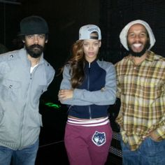 Rihanna with Damien and Ziggy Marley