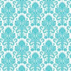 Damask Square Vertical Invitation in Tiffany Blue