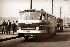 Ilyen is volt Budapest - évek eleje, Ikarus a Margit hídon Busse, Old Cars, Hungary, Budapest