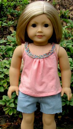 American Girl Doll Clothes Liberty Jane Sorrento Top by AvannaGirl