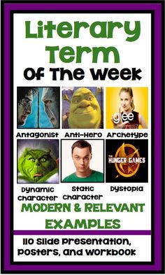 Start your Monday's with the Literary Term Of The Week!   This purchase includes a 110 slide presentation with modern examples of literary terms that your students will definitely recognize :)  It also includes a Lit term of the week poster for each of the terms so your students can find their own examples throughout thew week!