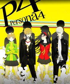 Tags: Fanart, Amagi Yukiko, Satonaka Chie, Shin Megami Tensei: PERSONA 4, Narukami Yu, Pixiv, Hanamura Yousuke, Fanart From Pixiv, Serori360
