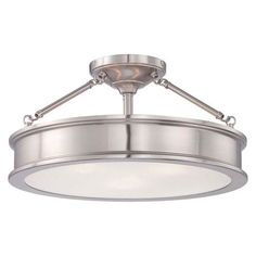 Buy the Minka Lavery Brushed Nickel Direct. Shop for the Minka Lavery Brushed Nickel 3 Light Semi-Flush Ceiling Fixture from the Harbour Point Collection and save.