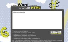 Convertir documentos de Word a HTML es fácil y gratis con la aplicación web Word2cleanhtml. Transforma tus archivos DOC en código HTML limpio.