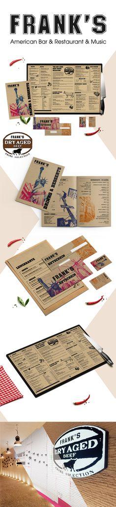Frank's - Corporate Design - designed by Designerpart - www.designerpart.com Web Design, Logo Design, Corporate Design, Restaurant Music, Aged Beef, Grafik Design, Designer, It Works, Projects