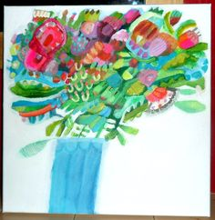 Original acrylic painting by Imogen Skelley #floral #botanical #art