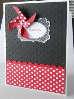 Black & Red Pinwheel Card