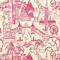 Destination 1 - Baumwolle - hot pink