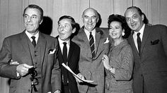 "The cast of ""Round the Horne"" on BBC Radio L to R: Hugh Paddick, Kenneth Williams, Kenneth Horne, Betty Marsden and Douglas Smith Douglas Smith, Kenneth Williams, Classic Comedies, Old Time Radio, London Theatre, Comedy Series, Series 4, British Comedy, Bbc Radio"