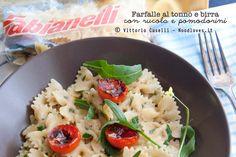 Farfalle al tonno e birra, con rucola e pomodorini / Farfalle with tuna and beer, with arugula and cherry tomatoes