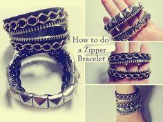 DIY: Zipper Bracelet Tutorial - YouTube