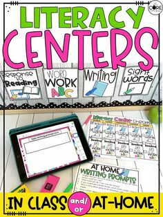 We created several pages to help you easily transition students from classroom literacy centers to literacy centers that can be completed at home. Whatever your schedule may look like next year, your students can continually practice literacy centers!