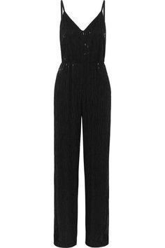 ALICE AND OLIVIA Porsha beaded crepe jumpsuit. #aliceandolivia #cloth #jumpsuits