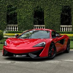 McLaren 570S painted in Vermillion Red Photo taken by: @mclaren.palmbeach on Instagram