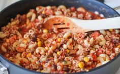 One Pot Mexican Skillet Pasta - This Mexican-inspired pasta dish can be made in 30 minutes or less!