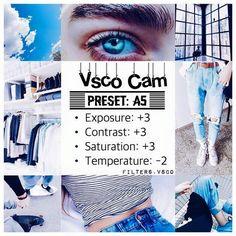 VSCO filter pointers