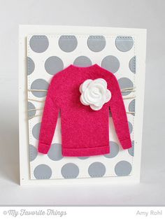 Comfy Sweater Die-namics, Jumbo Dot Cover-Up Die-namics - Amy Rohl #mftstamps