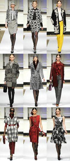 Oscar de la Renta Pre-Fall 2012: Lace, ruffles, plaid, geometric prints, polka dots, leather, fur, silk, knit… This collection had a little bit of everything.