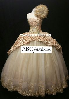 9e52818e5f7 Gorgeous gold quinceanera dress with matching bouquet www.abcfashion.net  972-264-9100  quinceaneradress  quinceanerabouquets  ragazza  misquince    ...