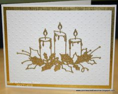 Candles by - Cards and Paper Crafts at Splitcoaststampers Christmas Cards To Make, Holiday Cards, Memory Box Dies, Christmas Candle, Winter Cards, Greeting Cards, Paper Crafts, Breast Cancer, Handmade Cards
