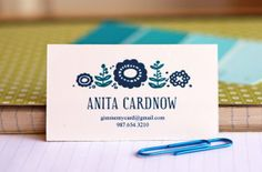 Printable business card/calling card templates. Type info in the editable fields. Three color choices.