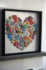 Bottle cap craft.  Could use all those old pins from places we have been