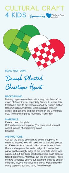 Learn how to make Danish pleated heart ornaments!