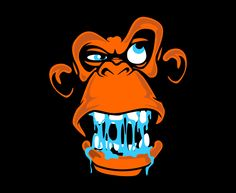 Mad Monkey Kung Fu Apparel Monkey Face Design by Old Dirty Dermot