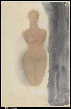 Rodin drawing / watercolour
