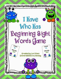 Easy Beginning Sight Words I Have Who Has FREEBIE