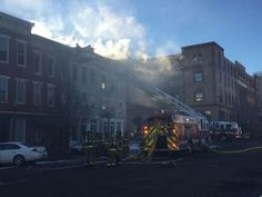 Market Street fire, Saturday, Jan. 30, 2016. Fire damages two buildings, including the old Candyland.