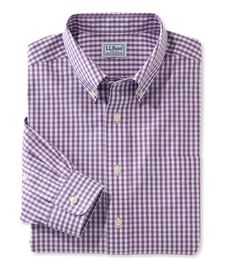 Wrinkle-Free Pinpoint Oxford Shirt, Slightly Fitted Gingham