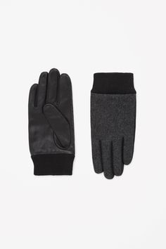 COS | Wool and leather gloves