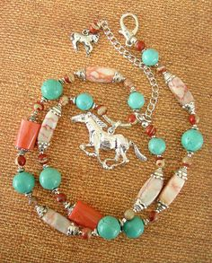 Boho Necklace Southwest Jewelry Turquoise Jewelry by BohoStyleMe