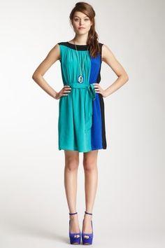Pippa Colorblock Silk Dress