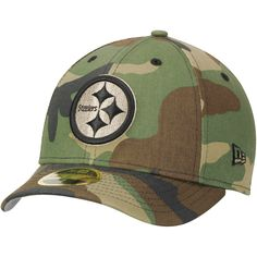 Pittsburgh Steelers New Era Woodland Camo Low Profile 59FIFTY Fitted Hat - $27.99