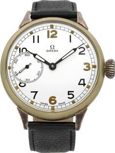 Timepieces:Wristwatch, Omega Oversize Vintage Watch, circa 1925. ... Image #1