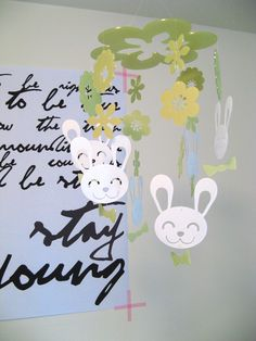 Daswood Rabbit Mobile, Lime Green Ikea Somnat Crib, and Huge Bob Dylan Forever Young Poster - on the Babiekins Magazine blog Bob Dylan Forever Young, Poster On, Mobiles, Crib, Growing Up, Ikea, Rabbit, Bunny, Magazine